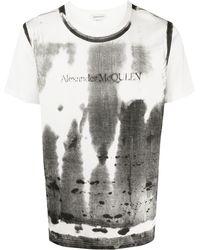 Alexander McQueen Футболка С Принтом X-ray - Белый