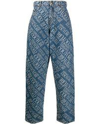 Versace Jeans Couture Джинсы Широкого Кроя С Логотипом - Синий