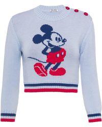 Miu Miu X Disney 'mickey Mouse' プルオーバー - グレー