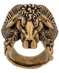Gucci Кольцо С Гравировкой - Многоцветный