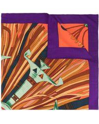 Hermès Foulard con stampa - Viola