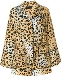 Kendall + Kylie - Leopard Print Playsuit - Lyst