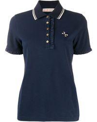 Tory Burch ラッフル Tシャツ - ブルー