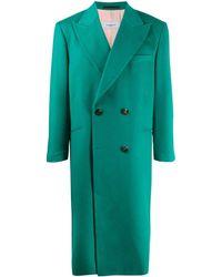 CASABLANCA Doppelreihiger Mantel - Grün