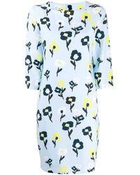 ESCADA Floral Shift Dress - Blue