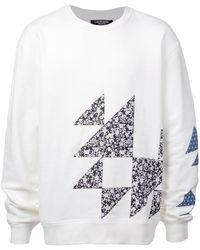 CALVIN KLEIN 205W39NYC ジオメトリックパターン スウェットシャツ - ホワイト