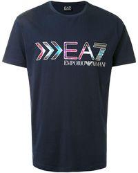 EA7 - Футболка С Короткими Рукавами И Логотипом - Lyst