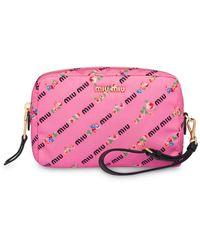 Miu Miu Printed Make-up Bag - Pink