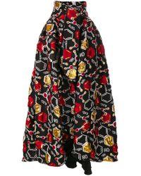 Ultrachic - Patterned Full Skirt - Lyst