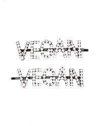 Ashley Williams Crystal-embellished 'vegan' Hair Slides - Black