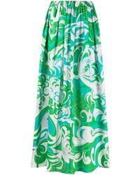 Emilio Pucci Albizia ビーチスカート - グリーン