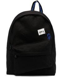 ADER error Logo Patch Cotton Backpack - Black