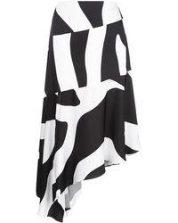MILLY ゼブラ スカート - ブラック