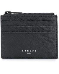 Sandro ファスナー財布 - ブラック