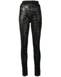 Amen Sequinned Skinny Trousers - Black