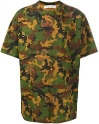 Off-White c/o Virgil Abloh Camouflage Print T-shirt - Green