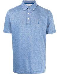 Gieves & Hawkes ボタン ポロシャツ - ブルー