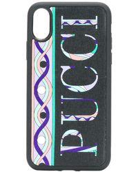 Emilio Pucci Funda para iPhone X-XS con logo - Negro