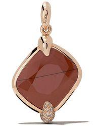 Pomellato - 18kt Rose Gold Ritratto Red Jasper And Diamond Pendant - Lyst