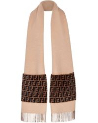 Fendi Touch Of Fur Scarf - Brown