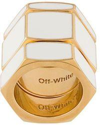 Off-White c/o Virgil Abloh Hex リング - ホワイト
