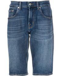 7 For All Mankind Denim Shorts - Blauw