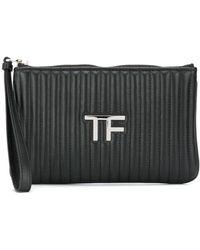 Tom Ford Стеганый Клатч Tf - Черный