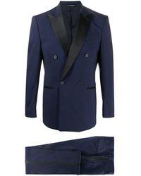 Tonello Double breasted tuxedo suit - Bleu