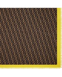 Fendi Logo-print Silk Scarf - Brown