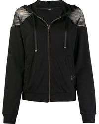 Liu Jo Zip-up Hooded Sweatshirt - Black