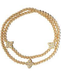 Roberto Coin 18kt Gelbgoldarmband mit Diamanten - Mettallic