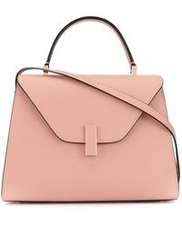 Valextra Iside Small Leather Bag - Pink