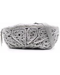 Brunello Cucinelli Knitted Belt Bag - Grey