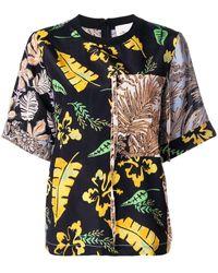 3.1 Phillip Lim パッチワーク Tシャツ - ブラック