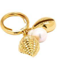 Oscar de la Renta Pearl-embellished Charm Ring - Metallic