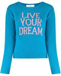 Alberta Ferretti Live Your Dream Slim-fit Jumper - Blue