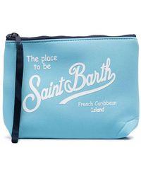 Mc2 Saint Barth Logo-print Wash Bag - Blue