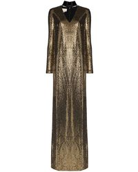 Gucci Choker Cut-out Chainmail Gown - Metallic