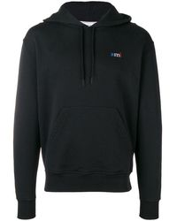 AMI Hoodie With Ami Embroidery - Black