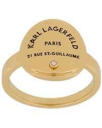 Karl Lagerfeld Кольцо Rue St. Guillaume С Медальоном - Металлик
