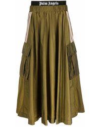 Palm Angels ロゴ カーゴスカート - グリーン