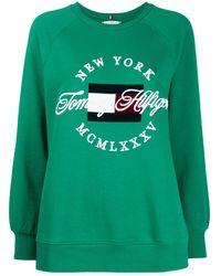 Tommy Hilfiger ロゴ セーター - グリーン