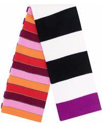 Sonia Rykiel Striped Lambswool-blend Scarf - Multicolour