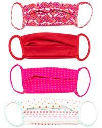 Amir Slama 4 Face Masks Set - Pink