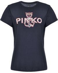 Pinko ストーンディテール Tシャツ - ブラック