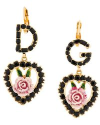 Dolce & Gabbana - Logo Rose Earrings - Lyst
