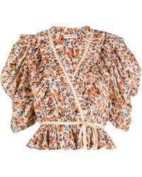 Ulla Johnson Floral-print Ruffled Blouse - Multicolour