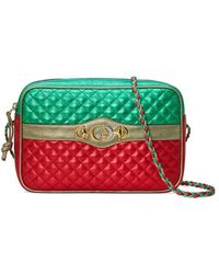 Gucci - Laminated Leather Small Shoulder Bag - Lyst