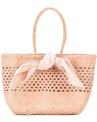 Loeffler Randall - Bow Detail Woven Tote - Lyst