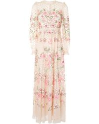 Needle & Thread Robe longue Rosalie à ornements - Rose